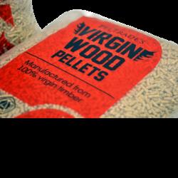 Peltrade's Virgin Wood Houtpellets (100% virgin timber). ENplus A1 gecertificeerd.